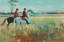 Allan_Baker_Clerk_of_the_course_oil_painting
